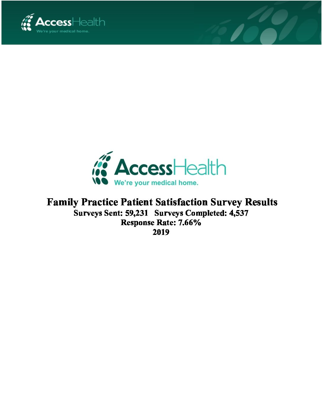 2019 Family Practice Patient Satisfaction Survey Results