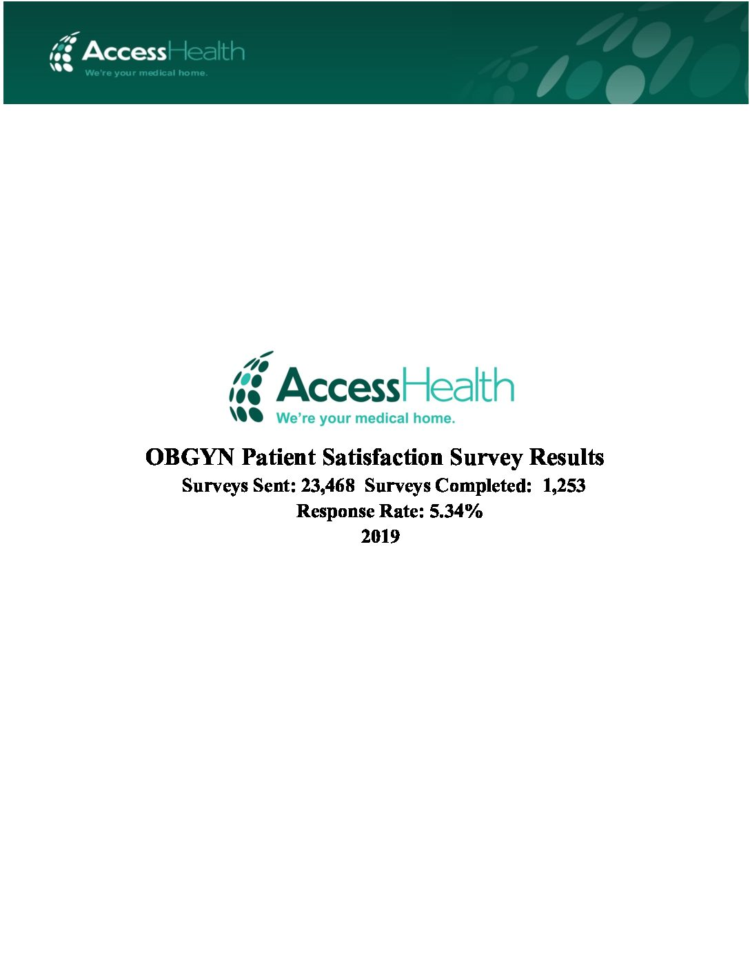 2019 OBGYN Patient Satisfaction Survey Results
