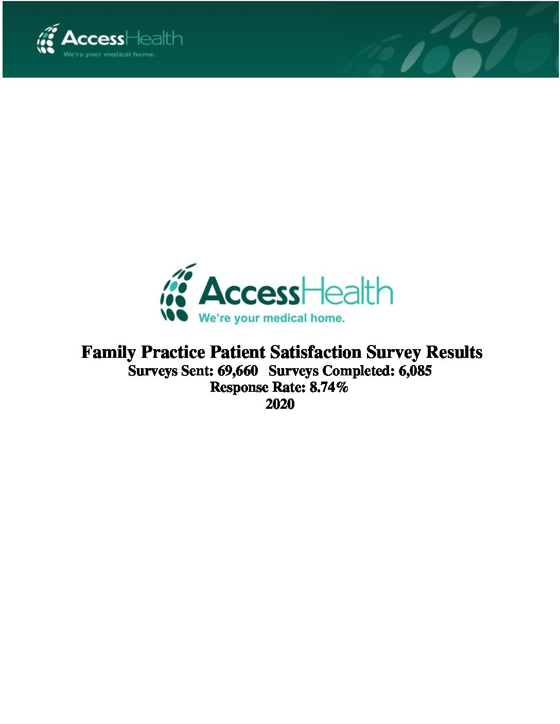 2020 Family Practice Patient Satisfaction Survey Results