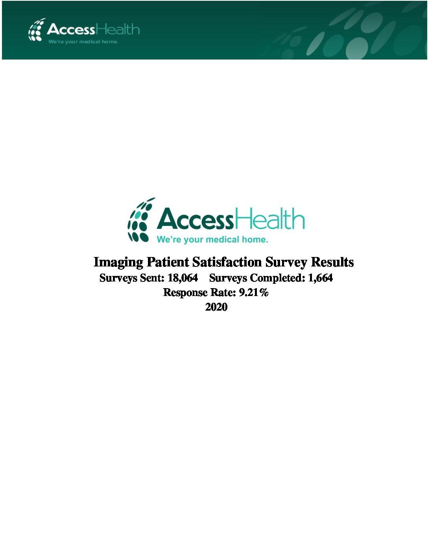 2020 PMU Patient Satisfaction Survey Results